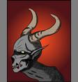 satan demon halloween concept vector image vector image