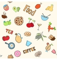 Seamless food pattern vector image vector image