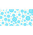 seamless winter background with snowflakes vector image