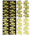 seamless yellow floral background vector image vector image