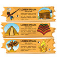set banners on attributes of the american indians vector image vector image