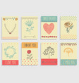 set of template design for greeting card vector image vector image