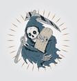 skateboard grim reaper vector image