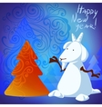 snowman goat vector image vector image