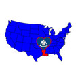 state of louisiana vector image vector image