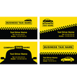 taxi business cards vector image vector image