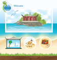 Template for Travel site vector image vector image