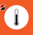 thermometer temperature measurement icon vector image vector image