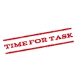 Time For Task Watermark Stamp vector image vector image