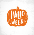 typographic halloween pumpkin design element vector image vector image