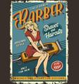 vintage barbershop poster vector image vector image