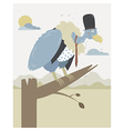 vulture waiting in a branch vector image