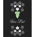 wine list02 vector image vector image