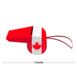 A Beautiful Blue Whistle of Canada Flag vector image