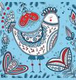 decorated bird in ethnic boho style vector image