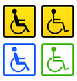 disabled wheelchair sign vector image