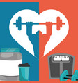gym poster weight protein food poster vector image