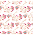 Seamless oriental style pattern vector image