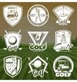 Vintage Golf Club Logos vector image
