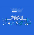 2021 new year fitness concept workout typography vector image vector image