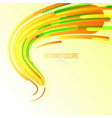 abstract colors curved on a green vector image vector image