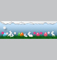 banner of easter holiday background with eggs on vector image