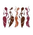 Beautiful dancers silhouette vector image vector image