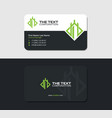 black business card for grand resort vector image vector image