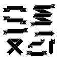 black flat paper scrolls set vector image vector image