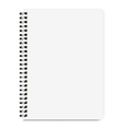 blank realistic notebook size a4 isolated on white