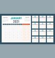 calendar for 2021 starts monday
