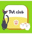 Card for pet club logo postcard vector image vector image
