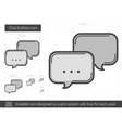 Chat bubbles line icon vector image vector image