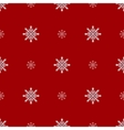Christmas snowflakes seamless background vector image