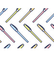 colorful pens pattern in cartoon style seamless vector image vector image