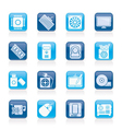 Computer part icons vector image