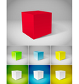 Cube vector image vector image