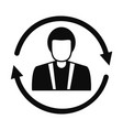 customer retention icon simple style vector image vector image