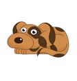 cute sad funny doggy vector image vector image