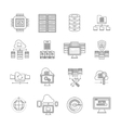 Datacenter Linear Icons Set vector image vector image