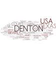 denton word cloud concept vector image vector image