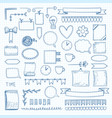 diary doodle notes hand drawn graphic shapes vector image
