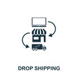 drop shipping icon symbol creative sign from vector image vector image