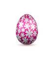 easter egg 3d icon pink color egg isolated white vector image vector image