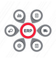 erp software icons vector image vector image