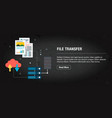 file transfer banner internet with icons in vector image vector image