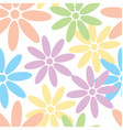 flower and daisy seamless texture vector image vector image