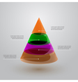 glass pyramid infographic vector image vector image