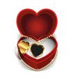 Gold Heart Necklet vector image vector image
