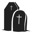grave icon simple style vector image